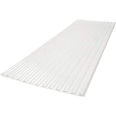 6 ft. 2.67 LP Polycarbonate Roof Panel in White Opal