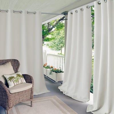White Solid Grommet Room Darkening Curtain - 52 in. W x 95 in. L