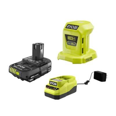 ONE+ 18V Lithium-Ion Portable Power Source with 2.0 Ah Battery and Charger