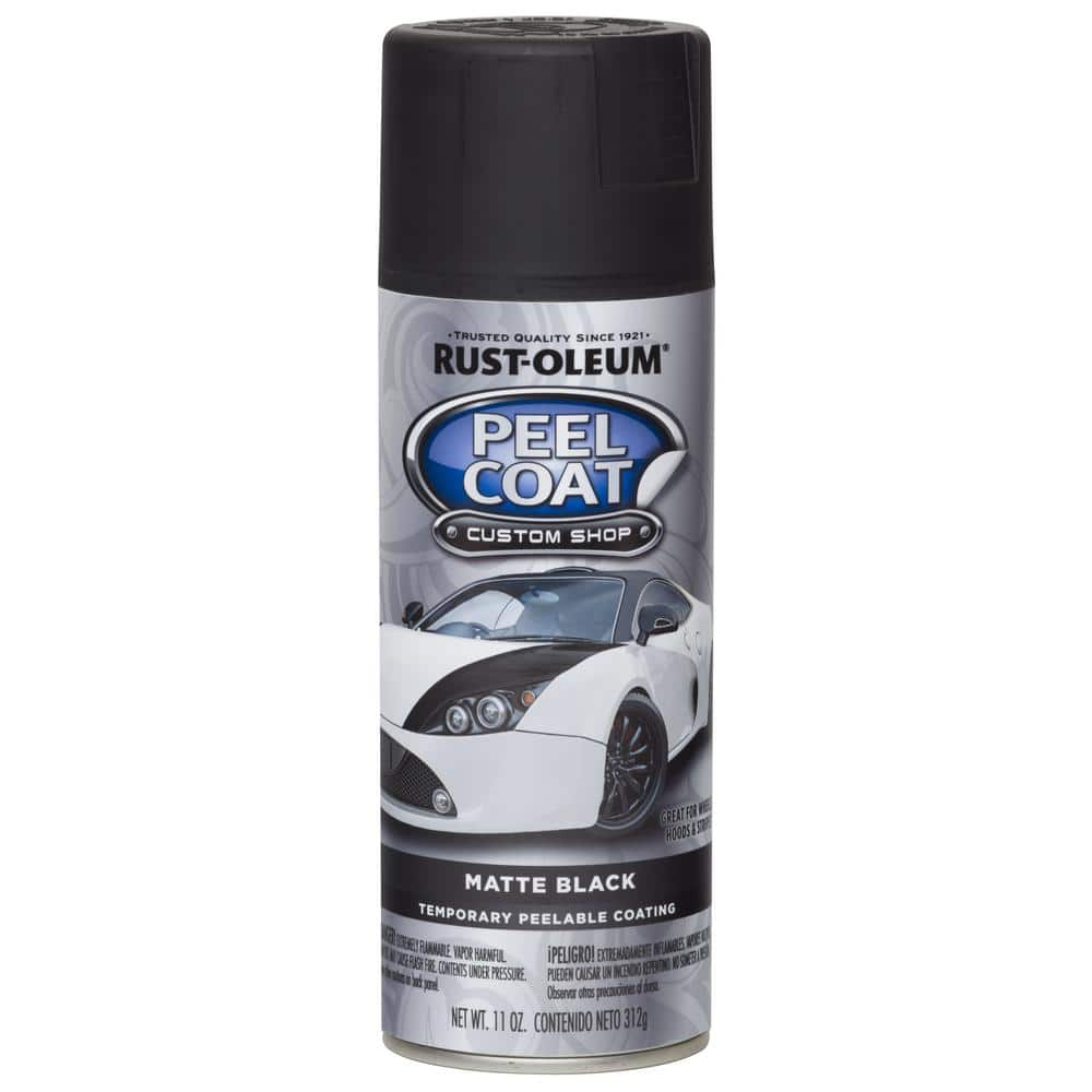 Rust Oleum Automotive 11 Oz Peel Coat Matte Black Rubber Coating Spray Paint 284279 The Home Depot