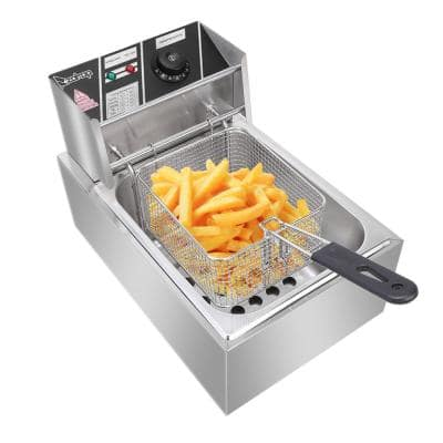 6.3 qt. Stainless Steel Electric Deep Fryer
