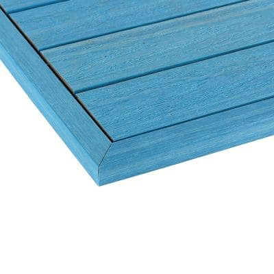 1/6 ft. x 1 ft. Quick Deck Composite Deck Tile Outside Corner Trim in Caribbean Blue (2-Pieces/Box)