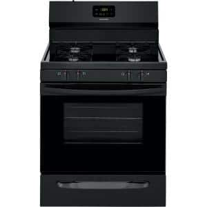 30 in. 5.0 cu. ft. Gas Range with Manual Clean in Black