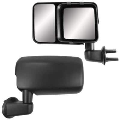 Clip-on Towing Mirror Set for 2007-2017 Jeep Wrangler and 2018 Wrangler JK