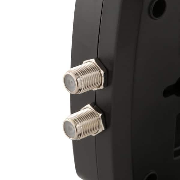 CE TECH  6 ft 8-Outlet USB Coax Surge Protector