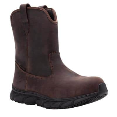 Men's Smith 8 in. Work Boot - Composite Toe - Brown Crazy Horse Size 13(X-W)