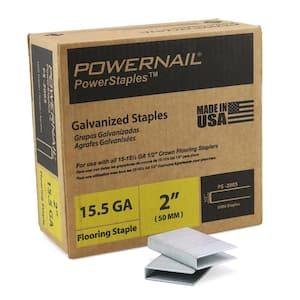 1/2 in. Crown x 2 in. Leg x 15.5-Gauge Steel Flooring Staple (5,000 Staples per Case)