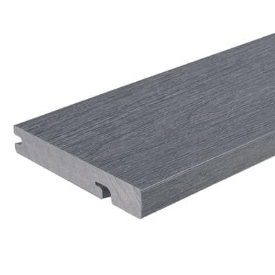UltraShield Naturale Columbus 1 in. x 6 in. x 8 ft. Westminster Gray Hybrid Composite Decking Board