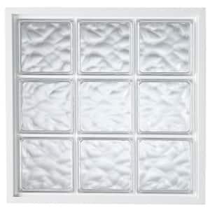 34 in. x 34 in. Acrylic Block Fixed Vinyl Window in White