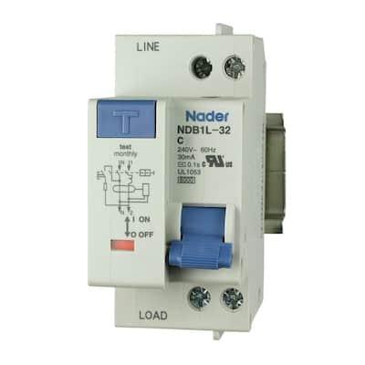 25 Amp 240-Volt 1 Pole GFCI Circuit Breaker DIN Rail Mount