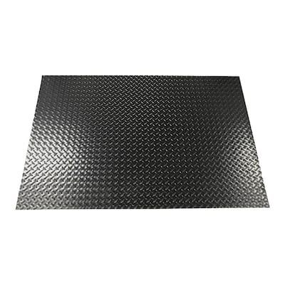 47 in. x 32 in. Polyvinyl Gas Grill Mat in Midnight Black