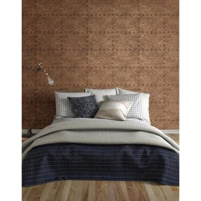 Upland Otto Copper Hammered Metal Paper Strippable Wallpaper Roll (Covers 56.4 sq. ft.)