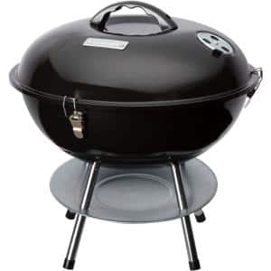 Portable Charcoal Grill in Black