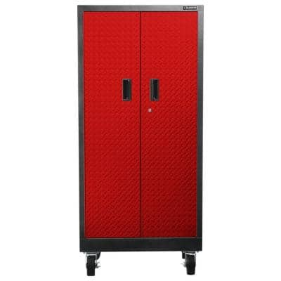 Premier Series Pre-Assembled Steel Freestanding Garage Cabinet in Red with Casters (30 in. W x 66 in. H x 18 in. D)