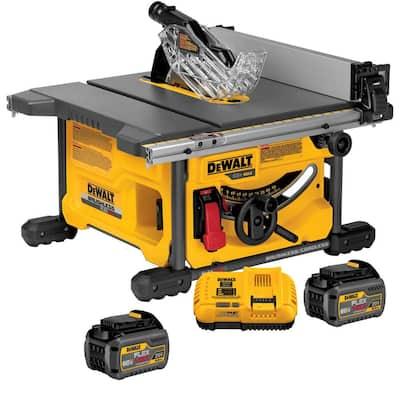 FLEXVOLT 60-Volt MAX Cordless Brushless 8-1/4 in. Table Saw Kit with (2) FLEXVOLT 6.0Ah Batteries