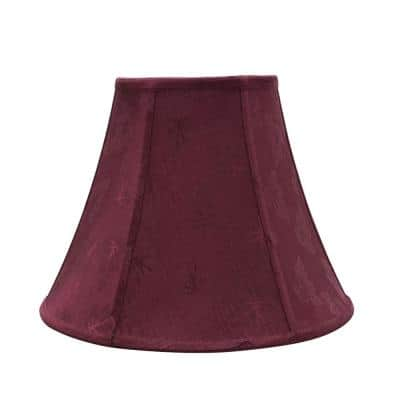 14 in. x 11 in. Red Bell Lamp Shade