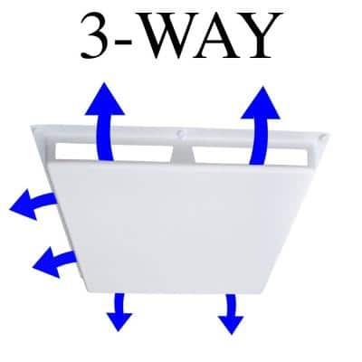 Commercial 3-Way Air Deflector Cover for 24 in. x 24 in. Diffuser