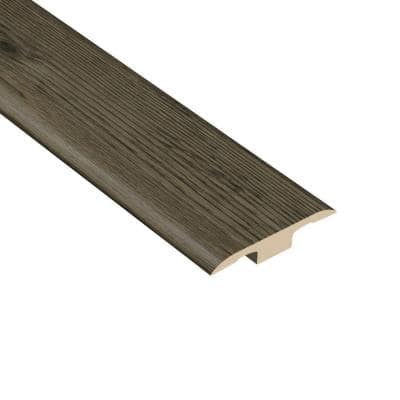 Hickory Lava 1/4 in. Thick x 1-3/8 in. Wide x 94-1/2 in. Length Vinyl T-Molding