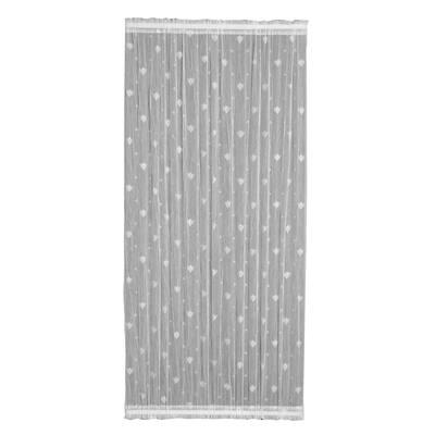 White Distressed Rod Pocket Room Darkening Door Curtain - 45 in. W x 72 in. L
