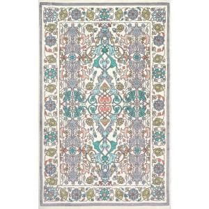 Janise Floral Multi 8 ft. x 10 ft. Area Rug
