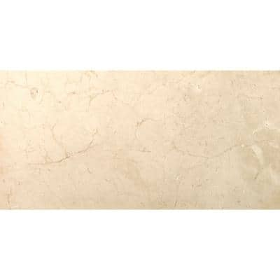 Marble Crema Marfil Plus Polished 11.81 in. x 23.62 in. Marble Floor and Wall Tile (2 sq. ft.)