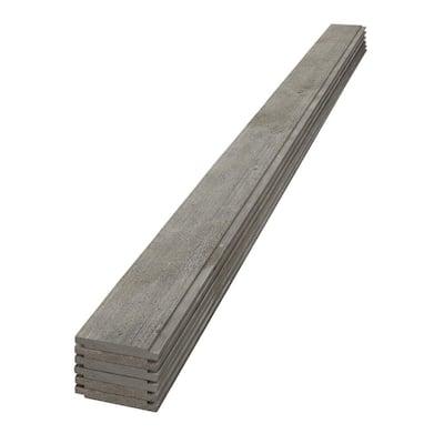 1 in. x 6 in. x 4 ft. Barn Wood Gray Shiplap Spruce/Pine/Fir Board (6-Pack)