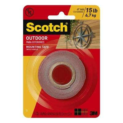 Scotch 1 in. x 1.66 yds. Permanent Double Sided Outdoor Mounting Tape (Case of 12)