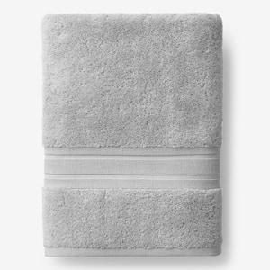 Company Cotton Silver Solid Turkish Cotton Bath Sheet