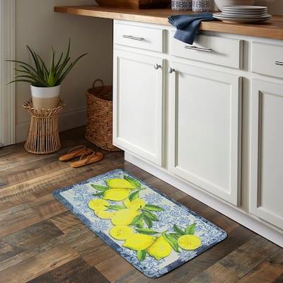 Classy Italian Lemons 18 in. x 30 in. Kitchen Mat