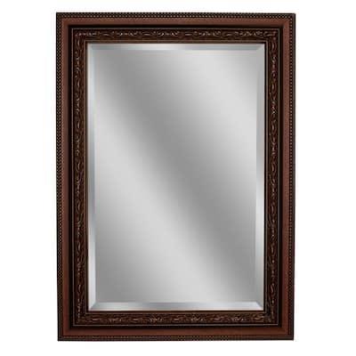Addyson 30 in. W x 36 in. H Framed Rectangular Beveled Edge Bathroom Vanity Mirror in Copper