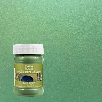 6 oz. Mystical Green Water-Based Satin Metallic Interior Paint