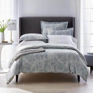 Marta Floral Multicolored Reversible Cotton Linen Blend Twin Duvet Cover