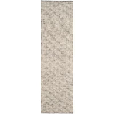 Natura Ivory/Light Gray 2 ft. x 12 ft. Geometric Runner Rug