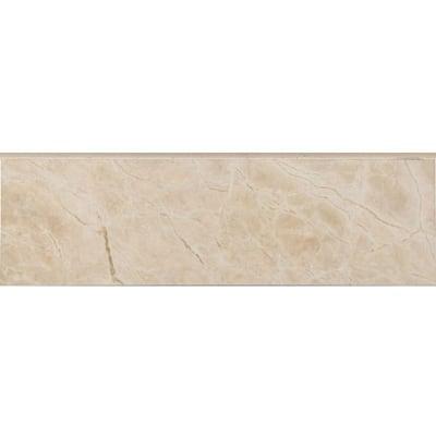 Favrales Beige 3 in. x 10 in. Ceramic Wall Bullnose Tile (3.89 sq. ft./Case)