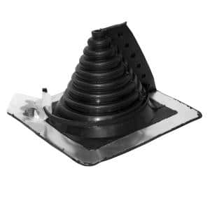 Retro Master Flash 8 in. x 8 in. Vent Pipe Roof Flashing with 1/2 in. - 4 in. Adjustable Diameter