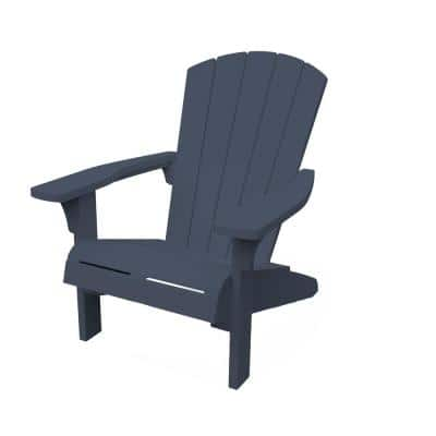 Troy Midnight Blue Plastic Adirondack Chair