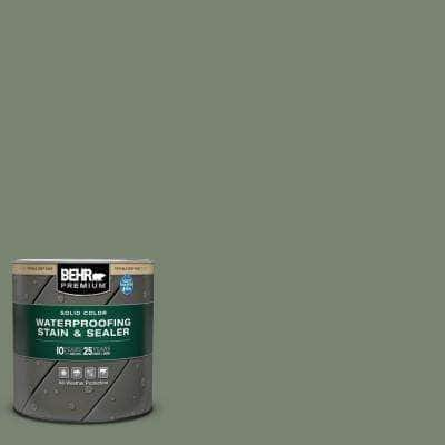 1 qt. #ICC-77 Sage Green Solid Color Waterproofing Exterior Wood Stain and Sealer