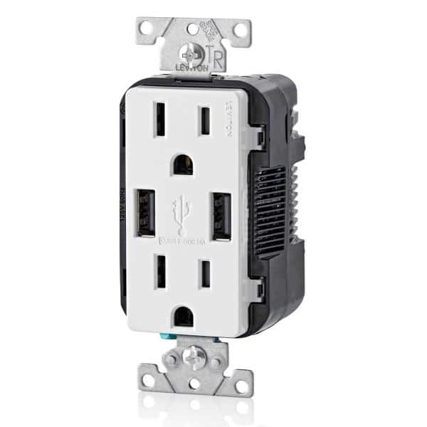 TYPE C//C USB CHARGERS WITH DUPLEX 15A TAMPER-RESISTANT OUTLET BLACK pass seymour