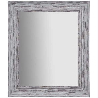 Small Rectangle White Mirror (0.8 in. H x 21.4 in. W)