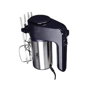 250-Watt 6-Speed Black/Silver Hand Mixer with Turbo Boost