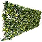 40 in. x 80 in. Artificial Lemon Leaf Lattice Screen