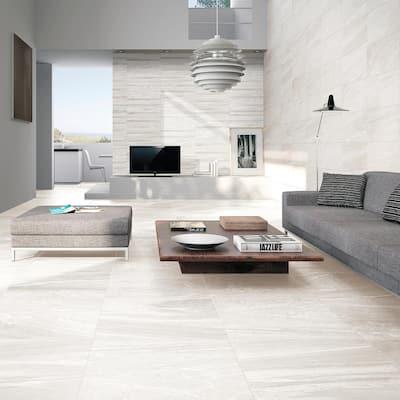 Sahara 25 in. x 13 in. White Glazed Porcelain Decorative Wall Tile (2.15 sq. ft. / each)