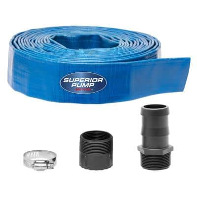 1-1/2 in. x 25 ft. Lay-Flat Discharge Hose Kit