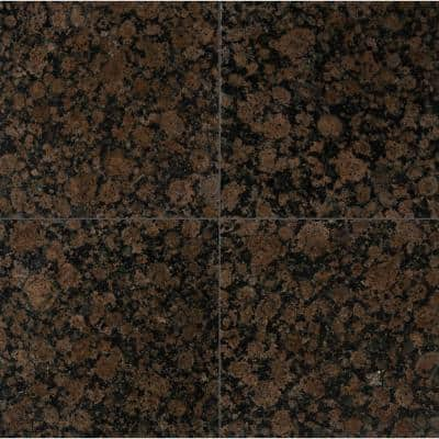 Baltic Brown 12 in. x 12 in. Polished Granite Floor and Wall Tile (10 sq. ft. / case)