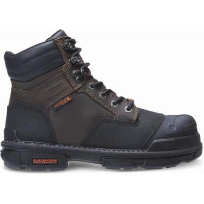 Men's Yukon Waterproof Durashock 6 inch Work Boot - Composite Toe - Coffee Bean Size 8.5(M)