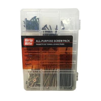 Assorted Indoor Use Screw Pack (180-Piece)