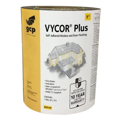 Vycor Plus 9 in. x 75 ft. Roll Fully-Adhered Flashing Tape (56 sq. ft.)