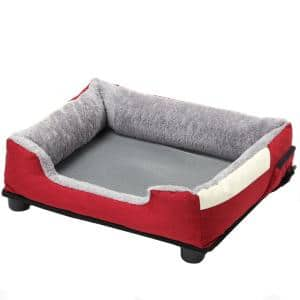 Large Red Dream Smart Electronic Heating and Cooling Smart Pet Bed