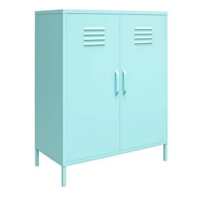 Cache Mint 2-Door Metal Locker Storage Cabinet
