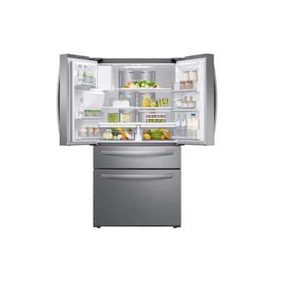 22.2 cu. ft. Family Hub 4-Door French Door Smart Refrigerator in Fingerprint Resistant Stainless Steel, Counter Depth